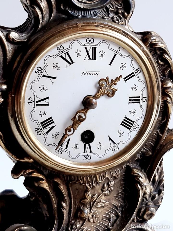 Relojes de carga manual: RELOJ BRONCE MECANICO 21.CM ALTO CUPULA METACRILATO 11.CM DIAMTRO Y BASE DE MARMOL - SIN LLAVE - Foto 16 - 221509568