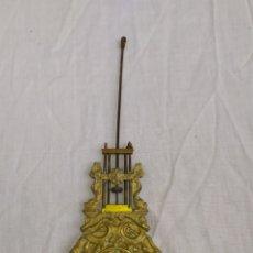 Relojes de carga manual: ANTIGUO PÉNDULO PARA RELOJ PÓRTICO BRONCE DORADO SIGLO XIX. Lote 222173358