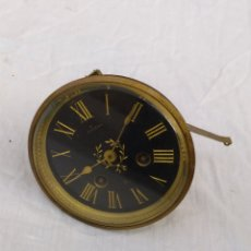 Relojes de carga manual: ESPECTACULAR MAQUINARIA PARÍS DE CAMPANA ESFERA NEGRA SIGLOXIX. Lote 222173395