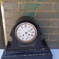 Relógios de carga manual: ESPECTACULAR RELOJ FRANCÉS MÁRMOL NEGRO SIGLO XIX. Lote 222174971
