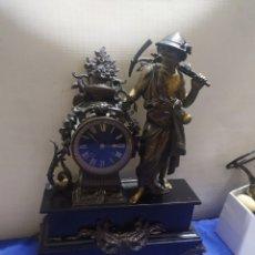 Relojes de carga manual: ANTIGUO RELOJ FRANCÉS MÁRMOL Y CALAMINA SIGLOXIX. Lote 222176662