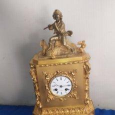 Relojes de carga manual: GRAN RELOJ FRANCÉS DE 1820 BRONCE AL MERCURIO ORO FINO. Lote 222270483