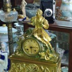 Relojes de carga manual: RELOJ ANTIGUO PRIMER IMPERIO CIRCA 1800S BRONCE AL MERCURIO. Lote 222271897