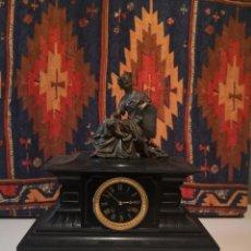 Relojes de carga manual: RELOJ DE BRONCE Y MARMOL. Lote 222282482