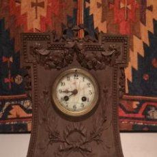 Relojes de carga manual: RELOJ DE MADERA. Lote 222283183