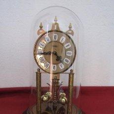 Relojes de carga manual: ANTIGUO RELOJ MESA MECÁNICO ALEMÁN DE CUERDA QUE DURA 400 DÍAS AÑOS 1950/60 MARCA HALLER Y FUNCIONA. Lote 222588606