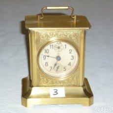 Relojes de carga manual: RELOJ CARRUAJE Nº3. Lote 222662021
