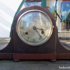 Relojes de carga manual: ANTIGUO RELOJ SOBREMESA O CHIMENEA / CUERDA DE 7 DIAS / CASA ESCASANY / FUNCIONANDO. Lote 223249503