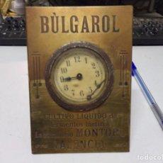 Relojes de carga manual: ANTIGUO RELOJ DE EPOCA MODERNISTA PUBLICIDAD MONTORO VALENCIA BULGAROL NO VISIONADO NUNCA. Lote 223518308
