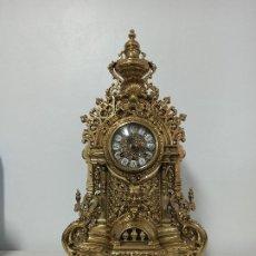 Relojes de carga manual: RELOJ IMPERIAL DE BRONCE DE SOBREMESA CHIMENEA. SONERIA DE CAMPANAS F.H.S. HERMLE.. Lote 224774505