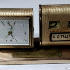 Relojes de carga manual: ANTIGUO RELOJ - CALENDARIO DE SOBREMESA MARCA EUROPA. Lote 226390223