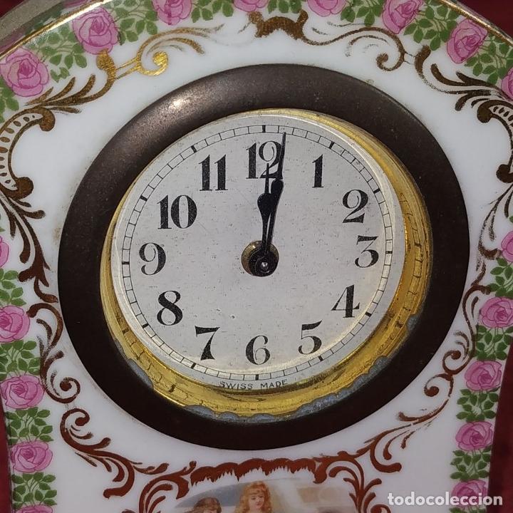 Relojes de carga manual: RELOJ DE PORCELANA. MARCA ROYAL. MECANISMO SUIZO. FRANCIA (?). PRINCIPIO SIGLO XX - Foto 8 - 226595724