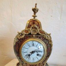 Relojes de carga manual: RELOJ LUIS XV MARQUETERIA BOULLE DE LATON Y CAREY. Lote 228492995