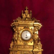 Relojes de carga manual: ESPECTACULAR RELOJ DE SOBREMESA EN BRONCE SOBREDORADO. SIGLO XIX. PESO APROX 10 KG.. Lote 228728436