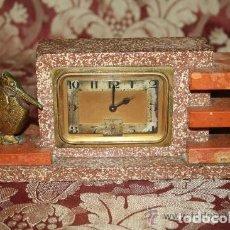 Orologi di carica manuale: RELOJ DESPERTADOR ART DÉCO, DE SOBREMESA. MÁRMOL Y METAL DORADO. BAYARD. FRANCIA. CIRCA 1930. Lote 229294680