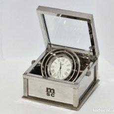 Relojes de carga manual: RELOJ NÁUTICO JACARD PARIS DE CUARZO - ESFERA 35 MM - CAJA METÁLICA DE 8 X 8 X 5 CM.. Lote 231746715