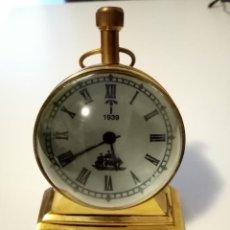 Relojes de carga manual: RELOJ DE BOLA DE CRISTAL SOBREMESA DE BRONCE. Lote 231909005