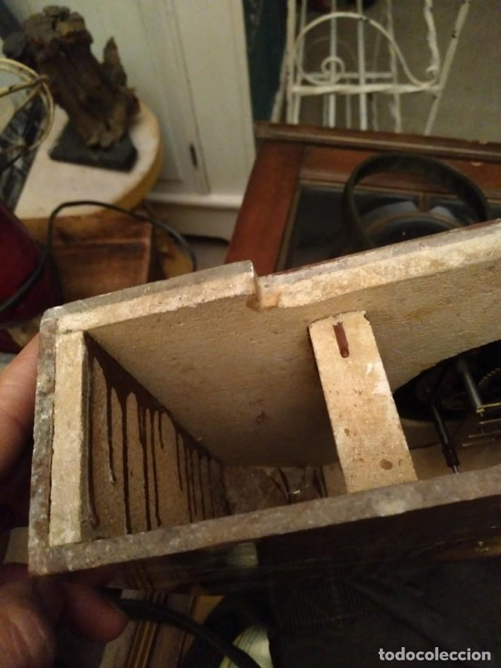 Relojes de carga manual: Reloj de mesa en marmol varios colores Art Deco Funcionando con llave 33 cm ancho, 22,5 alto 8 cm. f - Foto 5 - 27406604