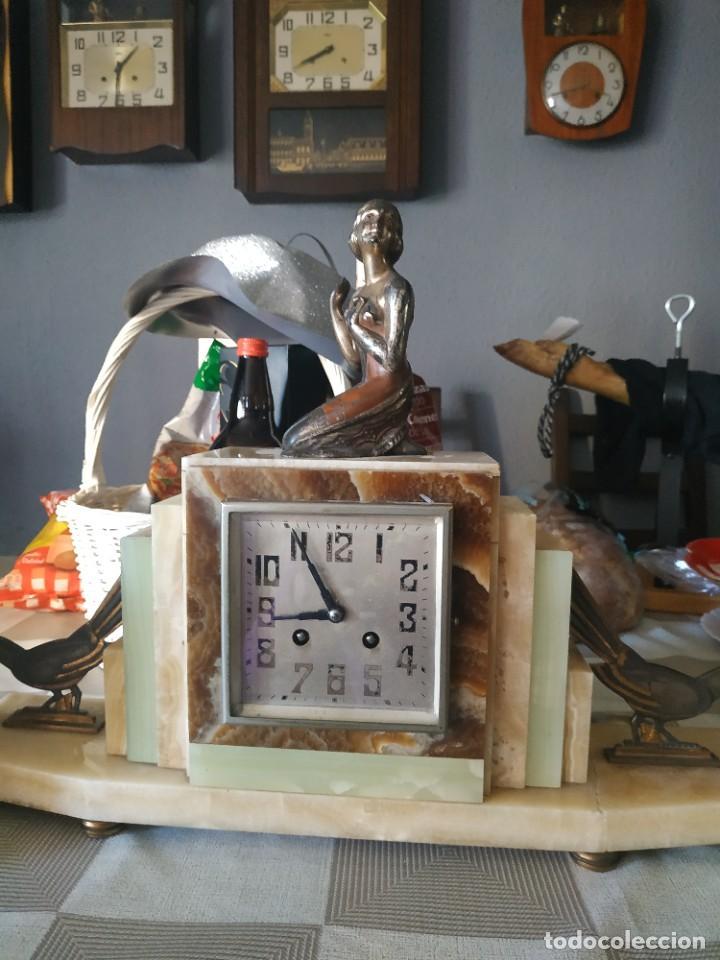 Relojes de carga manual: Reloj antiguo de bronce artdeco M Secondo - Foto 2 - 232185150