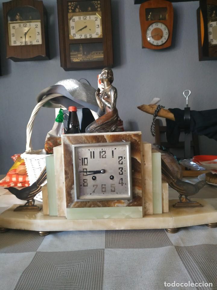 Relojes de carga manual: Reloj antiguo de bronce artdeco M Secondo - Foto 4 - 232185150