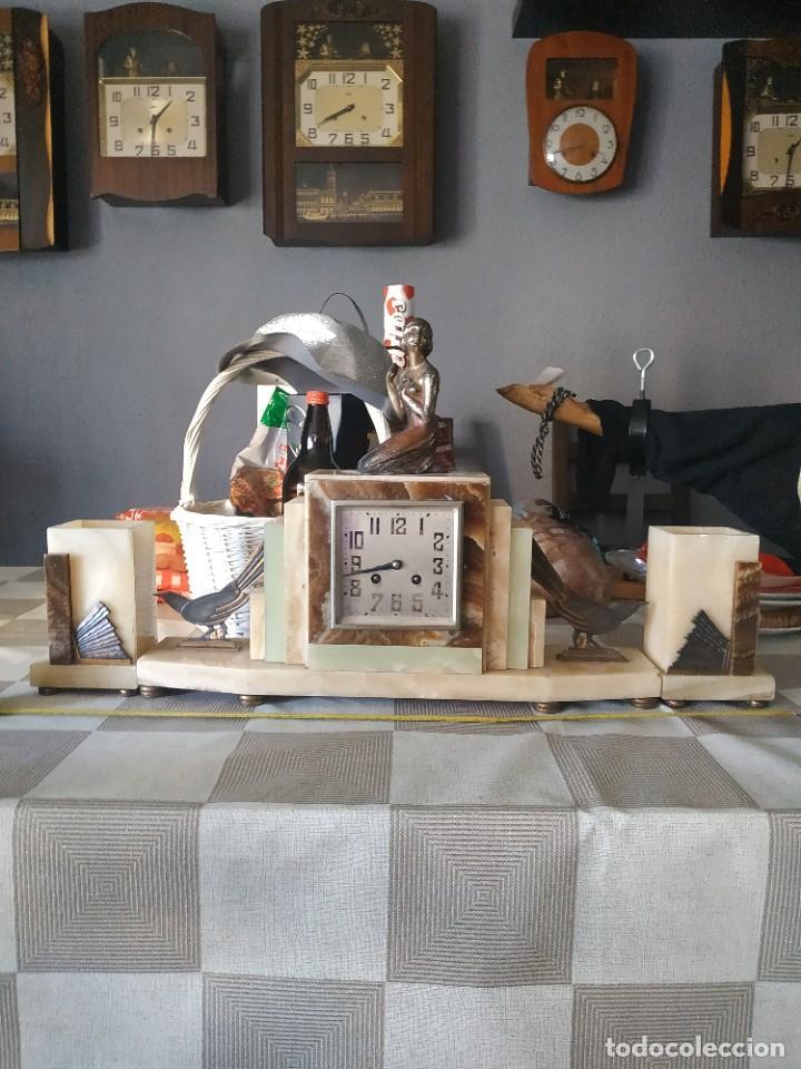 Relojes de carga manual: Reloj antiguo de bronce artdeco M Secondo - Foto 6 - 232185150