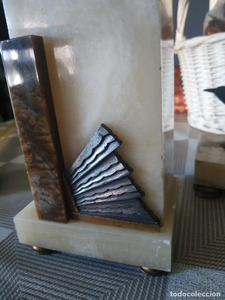 Relojes de carga manual: Reloj antiguo de bronce artdeco M Secondo - Foto 9 - 232185150