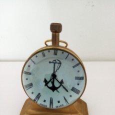 Relojes de carga manual: RELOJ DE SOBREMESA DE BOLA HECHO EN BRONCE. Lote 234014115