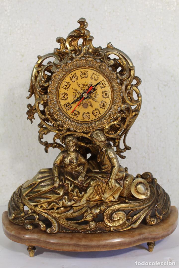 RELOJ DE ALEACIÓN DE BRONCE PAREJA ROMANTICA (Relojes - Sobremesa Carga Manual)
