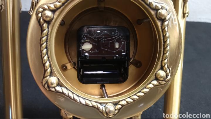 Relojes de carga manual: ANTIGUO RELOJ DE SOBREMESA EN BRONCE MACIZO DE 7.5KG DE PESO - Foto 7 - 234782840