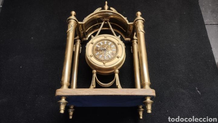 Relojes de carga manual: ANTIGUO RELOJ DE SOBREMESA EN BRONCE MACIZO DE 7.5KG DE PESO - Foto 8 - 234782840