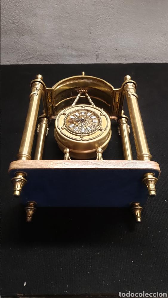 Relojes de carga manual: ANTIGUO RELOJ DE SOBREMESA EN BRONCE MACIZO DE 7.5KG DE PESO - Foto 9 - 234782840