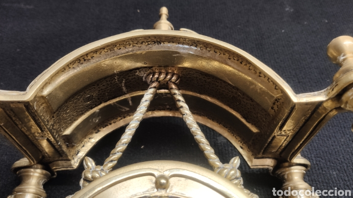 Relojes de carga manual: ANTIGUO RELOJ DE SOBREMESA EN BRONCE MACIZO DE 7.5KG DE PESO - Foto 10 - 234782840