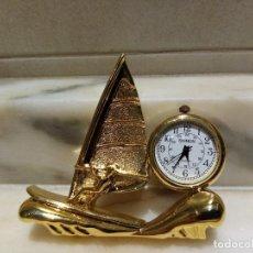 Relojes de carga manual: RELOJ DE SOBREMESA BARCO MINIATURA QUARZO. Lote 235939680