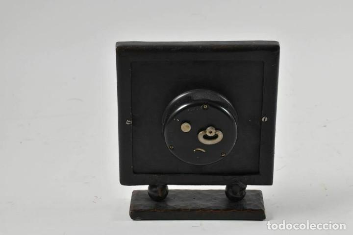 Relojes de carga manual: MAGNIFICO RARO RELOJ NAUTICO OBRA ARTE ART NOVEAU ESFERA CUERO GRABADO A MANOO - Foto 2 - 236059390