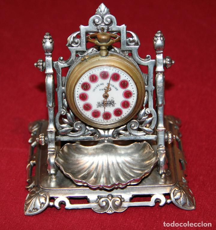 ANTIGUO SOPORTE EXPOSITOR PARA RELOJ DE BOLSILLO - RELOJERA - ACHILLE GAMBA (Relojes - Sobremesa Carga Manual)