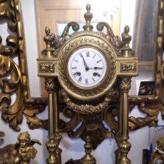 Relojes de carga manual: DESCOMUNAL RELOJ EN METAL. Lote 241495560