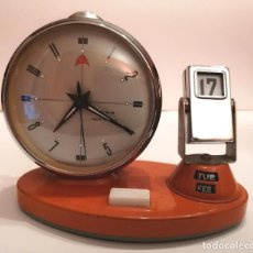 Relojes de carga manual: VINTAGE ** RELOJ / DESPERTADOR / CALENDARIO ACCIÓN MANUAL (A CUERDA) ** A REVISAR MECANISMO. Lote 242840640