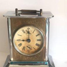 Horloges à remontage manuel: RELOJ DESPERTADOR MUSICAL DE CARRUAJE ALEMÁN JUNGHANS CON SU LLAVE ORIGINAL 1900'S.. Lote 243126920