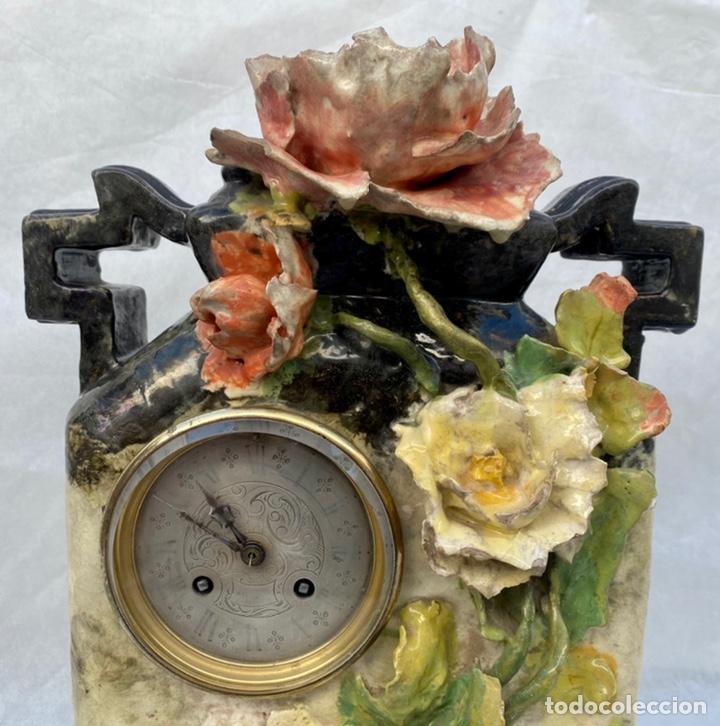 Relojes de carga manual: HYMARC. Reloj Henry Marc francés de cerámica antiguo S. XIX - Foto 2 - 243496300