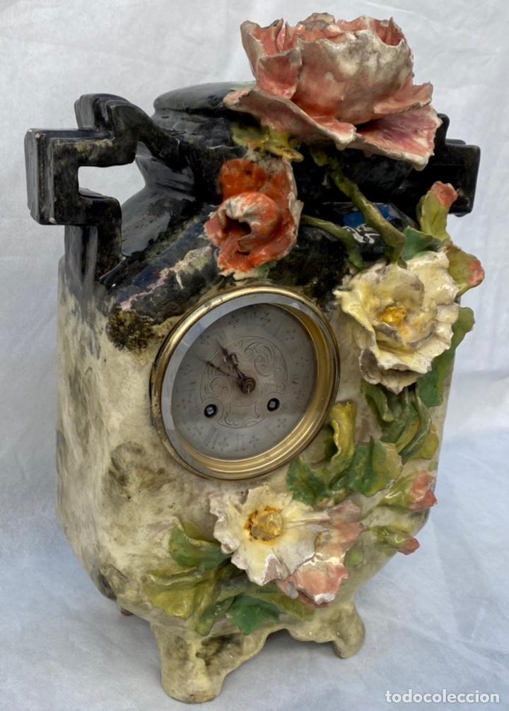 Relojes de carga manual: HYMARC. Reloj Henry Marc francés de cerámica antiguo S. XIX - Foto 4 - 243496300