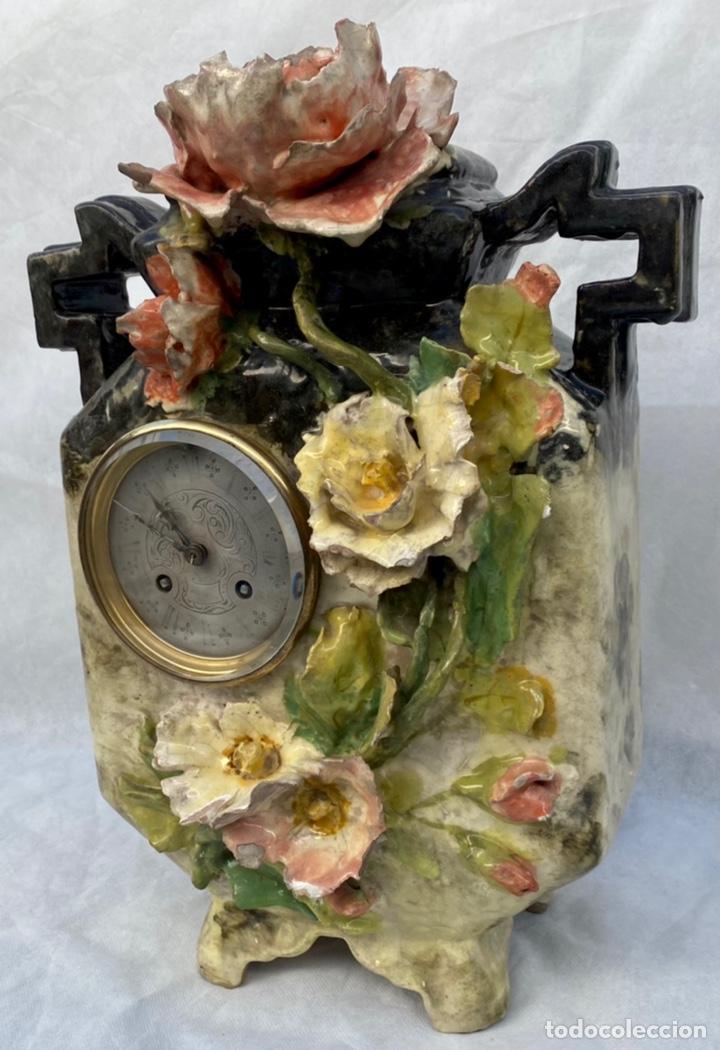 Relojes de carga manual: HYMARC. Reloj Henry Marc francés de cerámica antiguo S. XIX - Foto 5 - 243496300