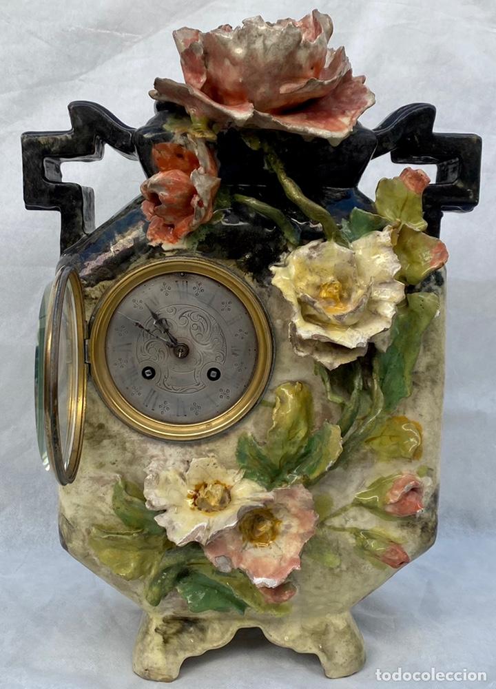 Relojes de carga manual: HYMARC. Reloj Henry Marc francés de cerámica antiguo S. XIX - Foto 6 - 243496300