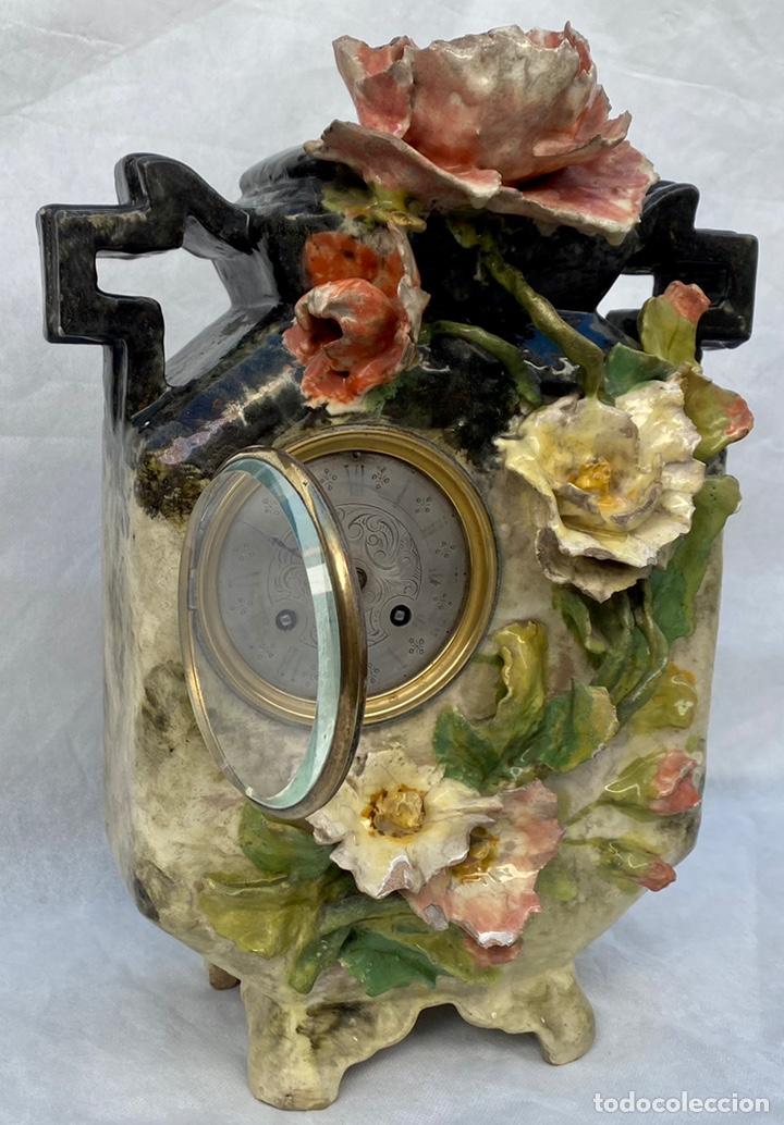 Relojes de carga manual: HYMARC. Reloj Henry Marc francés de cerámica antiguo S. XIX - Foto 8 - 243496300