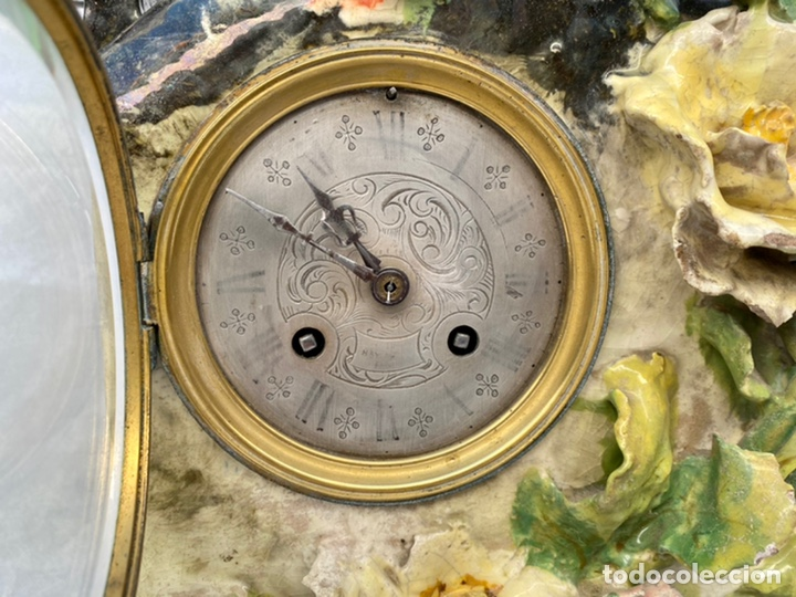 Relojes de carga manual: HYMARC. Reloj Henry Marc francés de cerámica antiguo S. XIX - Foto 9 - 243496300
