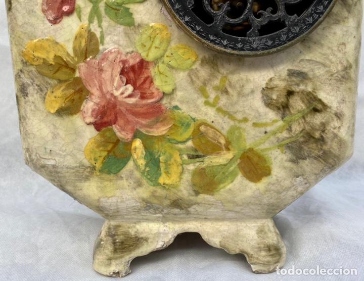 Relojes de carga manual: HYMARC. Reloj Henry Marc francés de cerámica antiguo S. XIX - Foto 17 - 243496300