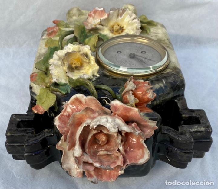 Relojes de carga manual: HYMARC. Reloj Henry Marc francés de cerámica antiguo S. XIX - Foto 32 - 243496300