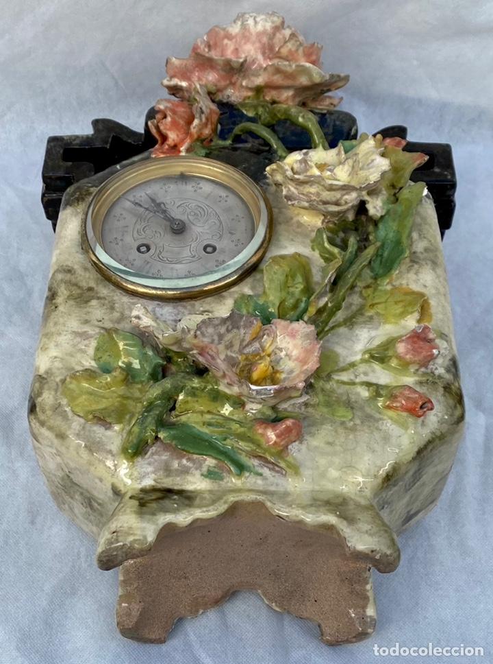 Relojes de carga manual: HYMARC. Reloj Henry Marc francés de cerámica antiguo S. XIX - Foto 35 - 243496300