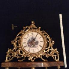 Relojes de carga manual: RELOJ SOBREMESA BRONCE. Lote 243842580