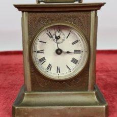 Horloges à remontage manuel: RELOJ DE CARRUAJE. MAQUINARIA SUIZA. SONERÍA CON CAJA DE MÚSICA. SIGLO XIX-XX.. Lote 243986095