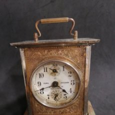 Relojes de carga manual: ANTIGUO RELOJ DE CARRUAJE DEPERTADOR JUNGHANS FUNCIONANDO.. Lote 245060520